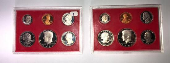 2 Sets of Clear S 1981 United States Proof Sets