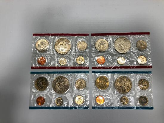 Set of 4 1977 Uncirculated Coins