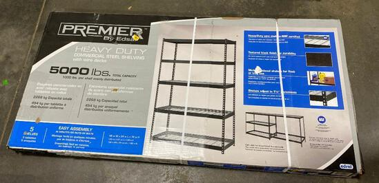 Premier Industrial Heavy Duty Commercial Steel Shelving with Wire Decks 5000lbs
