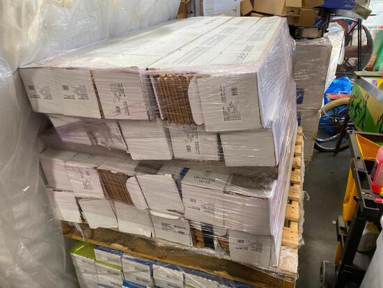 22 Boxes of Style Selections Natural Woods Hickory Flooring, 22sf/box - 484sf total, 3/8in x 5in