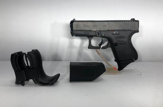 Glock 26 Gen 5 9mm 10 Round Mag w/ Factory Case, Paperwork, Back Straps & 1 Magazine SN: ADGG243