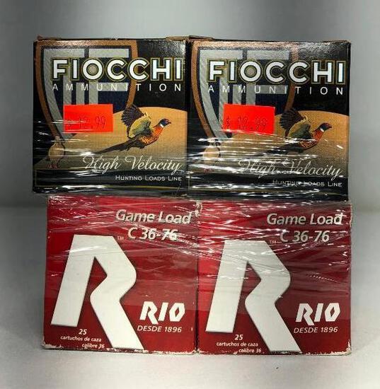 (8) Six Fiocchi Ammunitio High Velocity 410HV6 11/16oz, Two Rio Game Load C 36 76 R10 Ammo