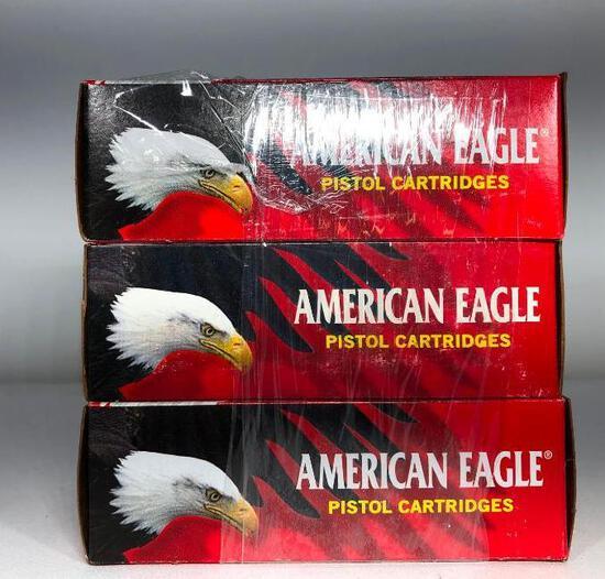 (3) Three American Eagle Pistol Cartridges 327 Federal Magnum 100 Grain MSRP: $29.99