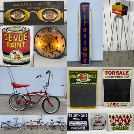 Fresh to Market Signs, Coin-Ops, Antiques Omaha
