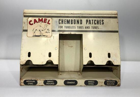 """Rare Camel Tire Patch Display Holder 11.5"""" x 9"""""""