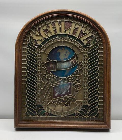 "Vintage Lighted Schlitz Plastic Sign 25"" x 21"""