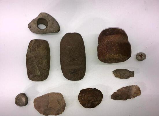 Lot of Native American Stone Tools