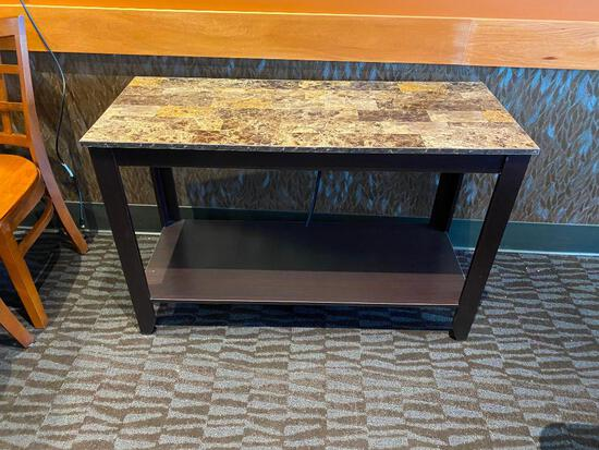 Sofa Table, Wooden and Laminate Top, 44in x 18in x 29in