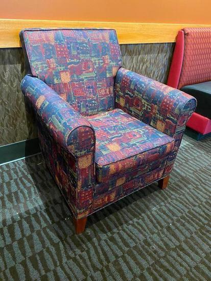 Designer Restaurant Upholstered Occasional Chair