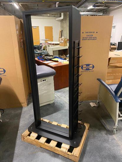 Hausmann No. 5560 Multi-Purpose Combination Rack, Rack/Hugger/Dumbell Rack/Mirror/Mobile