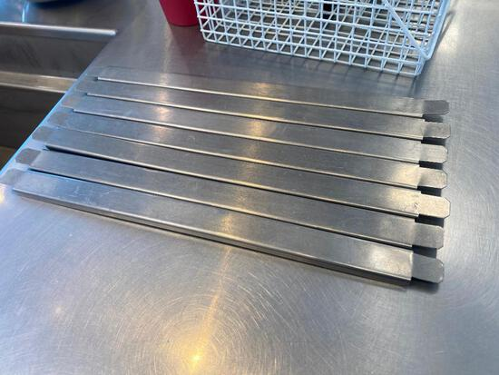 Lot of 8 Vollrath No. 75012 SS Steam Pan Dividers, 13in 1/2 Size