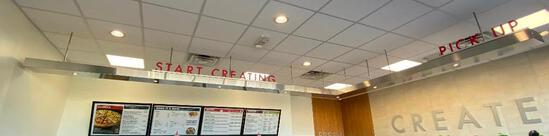 Large Ceiling Mount L-Frame Start Creating and Pick Up LED lit Sign and Frame