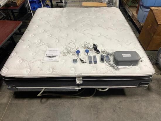 Personal Comfort Power-Flex 3 Adjustable King Bed w/ New Flex Mattress & Platform & Remotes