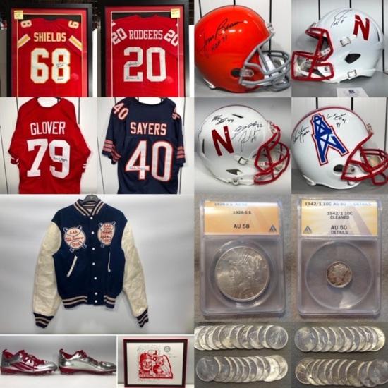 Sports & Husker Memorabilia & Coin Auction Omaha