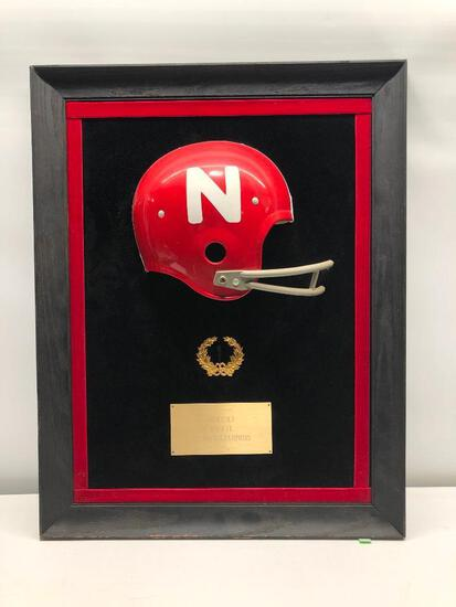 1970-71 Nebraska NAtional Champions Full Size Half Helmet Plaque