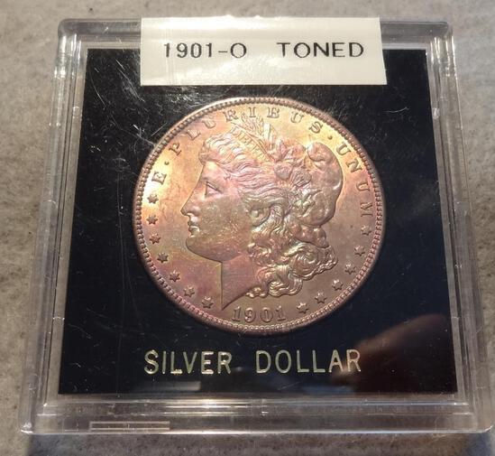 1901 O Morgan Dollar, Toned