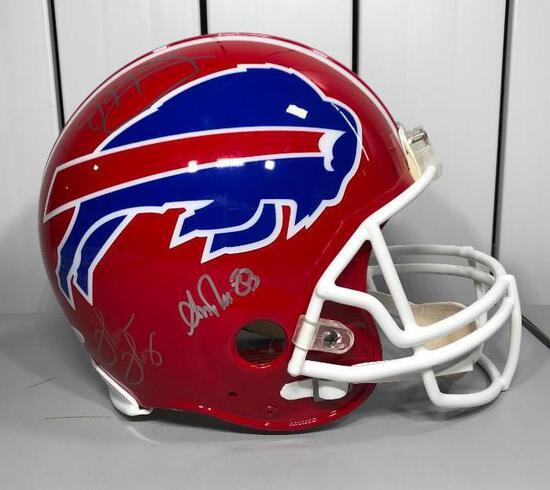 Full Size Autographed Authentic Helmet Bills JIM KELLY/Thurman Thomas/A Reed JSA COA