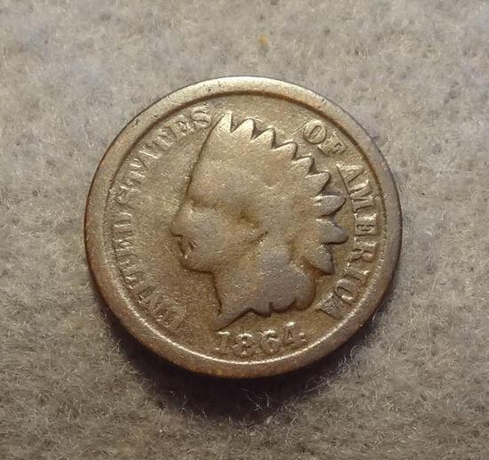 1864 Indian Head Cent Bronze