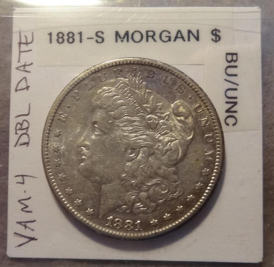 1881 S Morgan Silver Dollar - BU/Unc