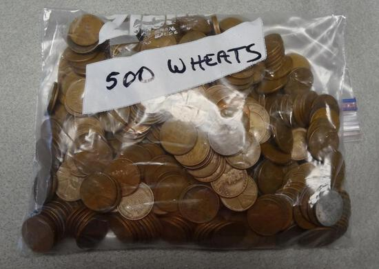Bag of 500 Wheat Cents