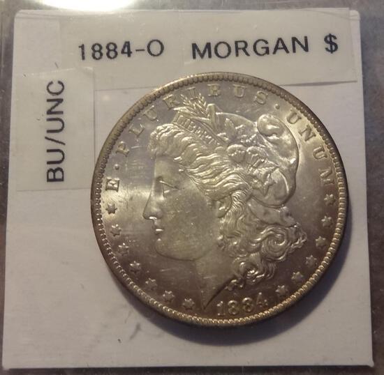 1884 O Morgan Silver Dollar - BU/Unc