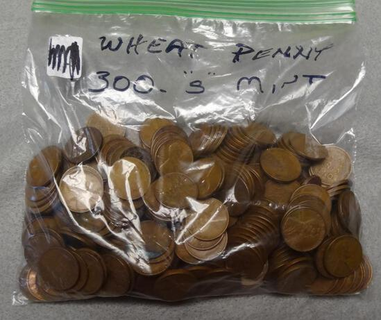 Bag of 300 S Mint Wheat Cents