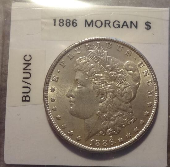 1886 Morgan Silver Dollar - BU/Unc