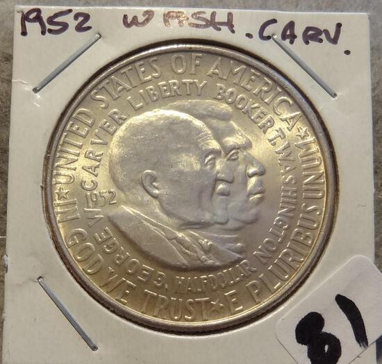 1952 Washington Carver Commemorative Silver Half Dollar