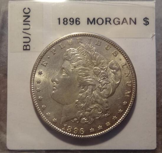 1896 S Morgan Silver Dollar - BU/Unc