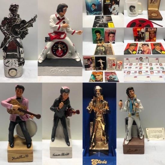 Vintage Elvis Sealed Decanters & Memorabilia Omaha
