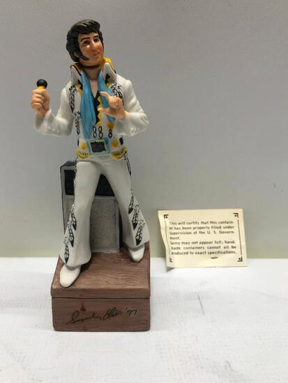 A First in a Series Mini Elvis Decanter with Grenadine by McCormick, Sealed & Full w/ Box