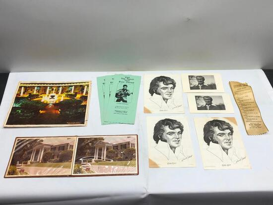 (11) Assorted Elvis Memorabilia and Graceland Items See Photo for Details