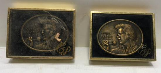 (2) Two Elvis Presley Belt Buckles