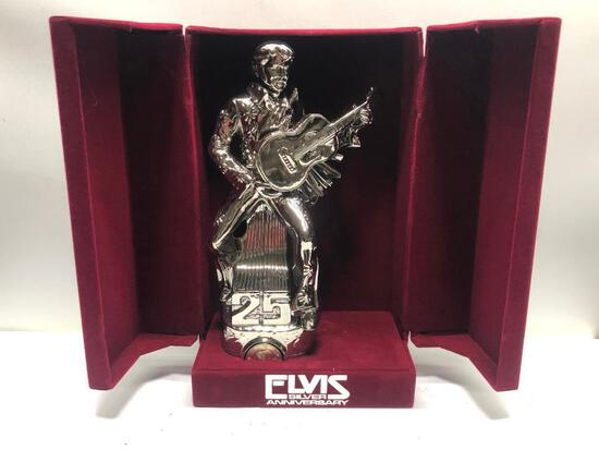 Elvis Silver Anniversary Elvis Decanter, Sealed & Full w/ Box