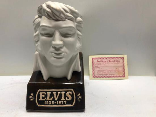 Elvis Limited Edition Bust Decanter from McCormick, Sealed & Full w/ Box