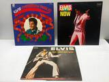 (3) Elvis Now Open Record, Elvis Christmas Album Open Record, Elvis as Recorded at