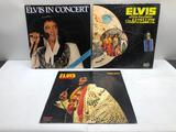 (3) Elvis Aloha from Hawaii via Sattelite Open Record, Elvis in Concert Open Record,