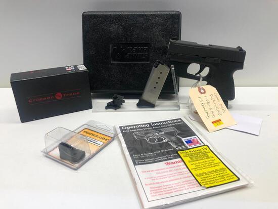 KAHR PM40 .40 S&W 6 Round Mag Crimson Trace Laser w/ Factory Case & 2 (5 & 6) Magazines