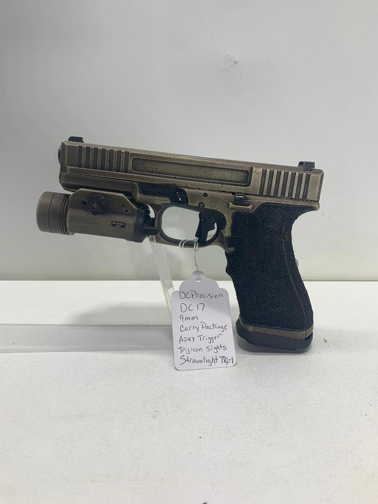 Glock DC Precision DC17 9mm Carry Package, APEX Trigger, Trijicon Sights,  Streamlight TRL-1 | Auctions Online | Proxibid