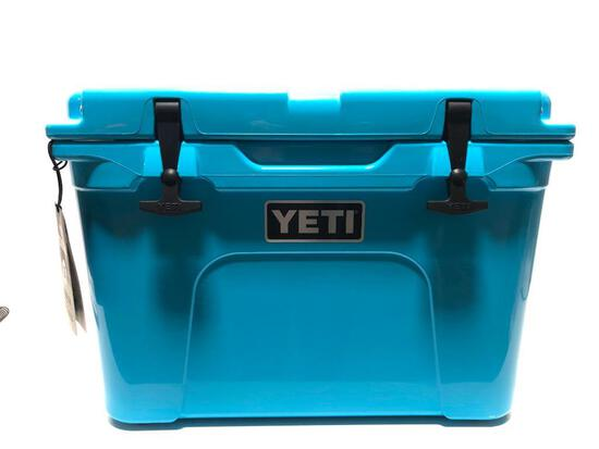 Yeti Tundra 35 Reef Blue Cooler MSRP $250.00