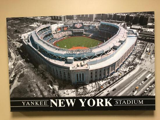 New York Yankee Stadium Stretched Canvas Photo on Wood
