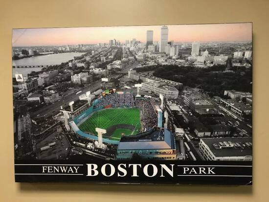 Boston Red Sox Fenway Park Stadium Stretched Canvas Photo on Wood