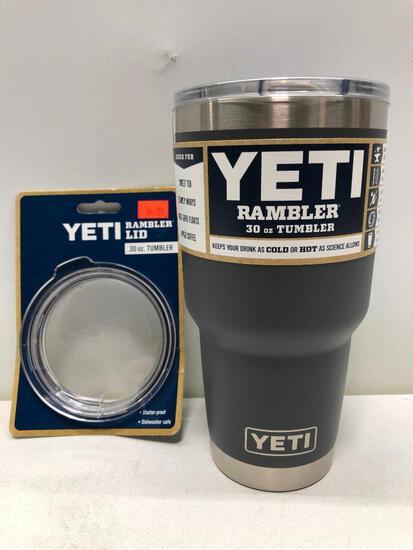 Yeti Rambler 30oz Tumbler Charcoal, Yeti Rambler Lid 30oz Tumbler
