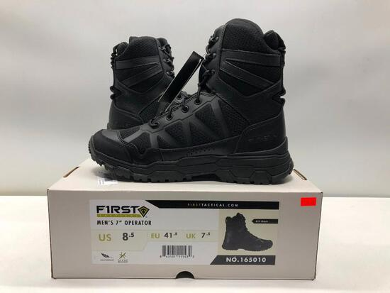 """First Tactical Mens 7"""" Operator Boot Mens 8.5 MSRP: $129.99"""