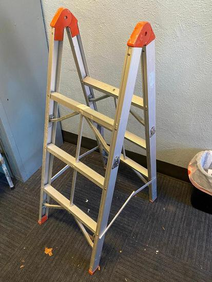 Double sided Adjustable Ladder; 6ft Straight Ladder or 3 ft A-Frame Ladder