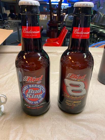 (2) Budweiser King Bottles, NASCAR AND NHRA Dale Earnhardt Jr & Kenny Bernstein