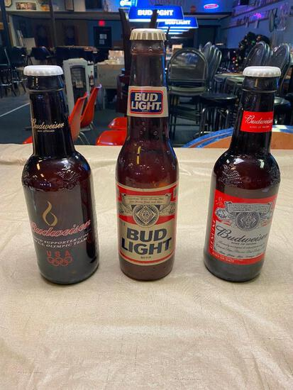 (3) Budweiser King Bottle; Olympics, Bud Light