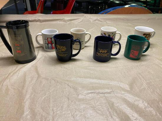 (9) Assorted Coffee Mugs, Different Logos