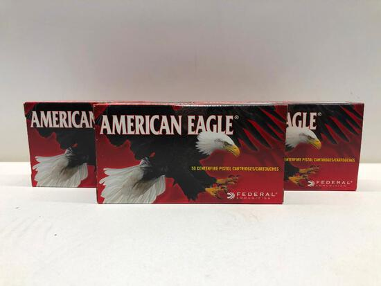 Lot Of 3 Boxes 380 Auto 95 Grain American Eagle Ammo - 150 Rounds