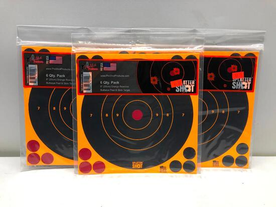 "Lot Of 3 6 Pack 8"" Splatter Shot Targets"